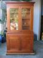 Victorian Cedar and pine 2 Height Bookcase C1880  Victorian Cedar and pine 2 Height Bookcase C1880