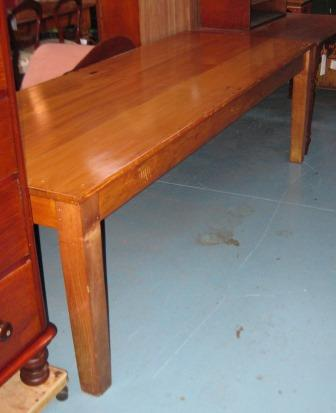 Good 8ft pine ex convent table (SOLD)