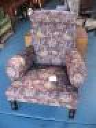 Newly upholstered Victorian Armchair Newly upholstered Victorian Armchair