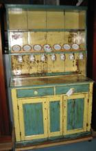 lovely early waterfall top kitchen dresser great paint lovely early waterfall top kitchen dresser great paint