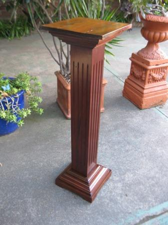 Maple Pedestal with reeding