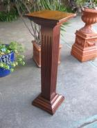 Maple Pedestal with reeding Maple Pedestal with reeding