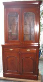 Victorian Cedar 2 Height Bookcase C1880 with 2 drawers Victorian Cedar 2 Height Bookcase C1880 with 2 drawers