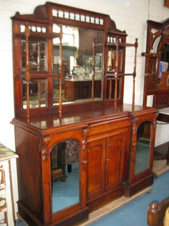 Victorian Cedar Mirror Backed Sideboard with lovely old wear(SOLD)