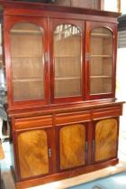 Large 3 Door 2  Height Bookcase with lovely panels Large 3 Door 2  Height Bookcase with lovely panels