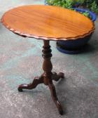 Lovely Victorian Wine Table with Scalloped Edge Lovely Victorian Wine Table with Scalloped Edge