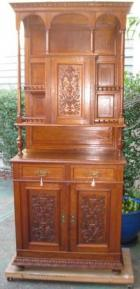 European Oak 2 Height Sideboard with Lovely fine carving  European Oak 2 Height Sideboard with Lovely fine carving