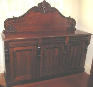 Victorian Cedar 3 Door, 3 Drawer Sideboard with lovely carving C1880