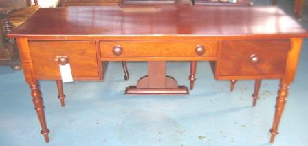 Lovely Cedar Desk/Sidetable Old but not Antique with 3 Drawers