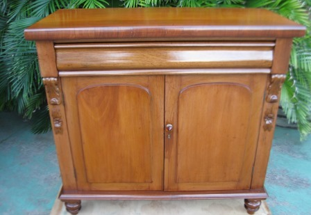 Victorian Cedar 2 Door Cabinet with Carved Corbels C1880