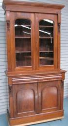 Victorian Cedar 2 Height Bookcase with carved corbels C1885 Victorian Cedar 2 Height Bookcase with carved corbels C1885