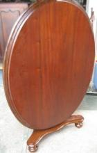 Cedar Tilt Top Oval Table C1880 Cedar Tilt Top Oval Table C1880
