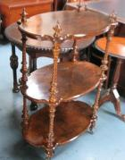 Burr Walnut What Not C1880 in lovely order(SOLD) Burr Walnut What Not C1880 in lovely order