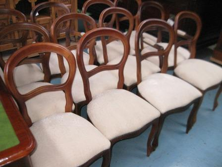 Set of 12 chairs (old but not antique)