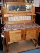 Federation Maple Marble top Washstand  Federation Maple Marble top Washstand