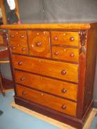 Cedar 7 drawer chest with lovely old finish C1880 Cedar 7 drawer chest with lovely old finish C1880