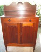 Early Cedar 2 Door Meatsafe with Sunburst Carving Early Cedar 2 Door Meatsafe with Sunburst Carving