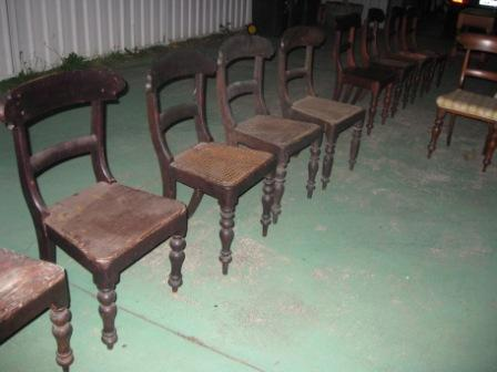 Fourteen Various Convict Chairs.(SOLD) Fourteen Various Convict Chairs. Circa 1860.