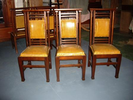 blackwood chairs(SOLD) set of 6 blackwood high back chairs.