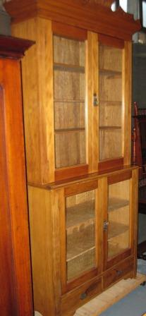 Late Victorian Pine bookcase/display cabinet C1890(SOLD)